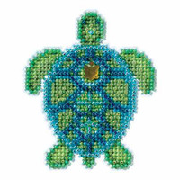 Sea Turtle Bead Cross Stitch Kit Mill Hill 2016 Spring Bouquet MH181611