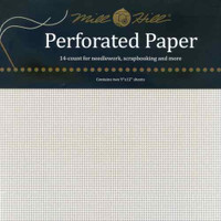 White Perforated Paper Mill Hill 14 Count 9x12 Inches