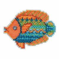 Fancy Fish Bead Cross Stitch Kit Mill Hill 2016 Spring Bouquet MH181613