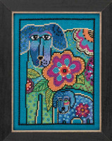 Petunia & Rose Cross Stitch Kit (Aida) Mill Hill 2016 Laurel Burch Dogs