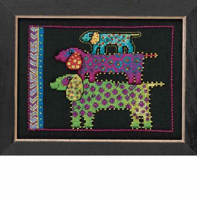 Dog Pyramid Cross Stitch Kit (Aida) Mill Hill 2016 Laurel Burch Dogs LB301625