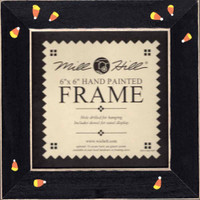 Matte Black with Candy Corn Mill Hill 6 x 6 Wooden Frame GBFRFA4