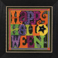 Happy Halloween Cross Stitch Kit Mill Hill 2016 Buttons & Beads Autumn
