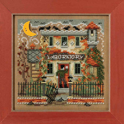 Haunted Laboratory Cross Stitch Kit Mill Hill 2016 Buttons & Beads Autumn
