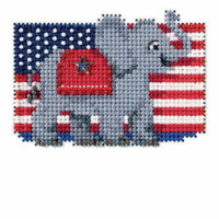 Patriotic Red Bead Cross Stitch Kit Mill Hill 2016 Autumn Harvest MH181624