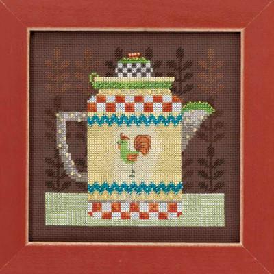 Coffee Pot Cross Stitch Kit Mill Hill Debbie Mumm 2016 Good Coffee & Friends DM301611