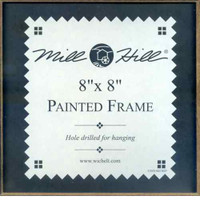 Matte Black Hand Painted Mill Hill 8 x 8 Wooden Frame GBFRM21