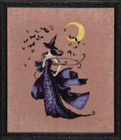 Raven Kit Cross Stitch Chart Fabric Beads Nora Corbett Mirabilia Designs NC222