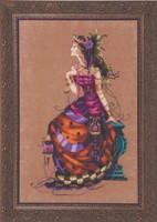 Gypsy Queen Kit Cross Stitch Chart Fabric Beads Braid Silk Floss Mirabilia MD142