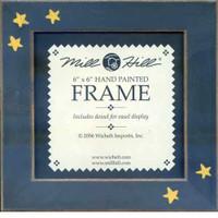 Matte Black Primitive Stars Hand Painted Mill Hill 6 x 6 Frame GBFRFA6
