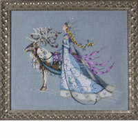 Snow Queen Kit Cross Stitch Chart Fabric Beads Braid Floss Mirabilia MD143