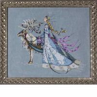 Snow Queen Kit Cross Stitch Chart Fabric Beads Braid Floss Mirabilia MD143