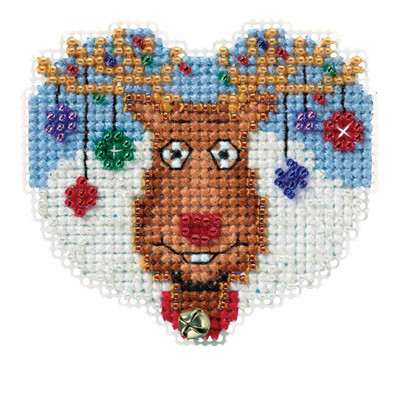 Reindeer Games Cross Stitch Ornament Kit Mill Hill 2016 Winter Holiday MH181631