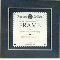 Matte Black Solid Color Gold Trim Mill Hill 6 x 6 Wooden Frame GBFRM1