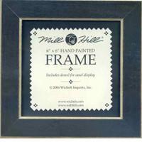 Matte Black Solid Color Gold Trim Mill Hill 6 x 6 Wooden Frame GBFRM1