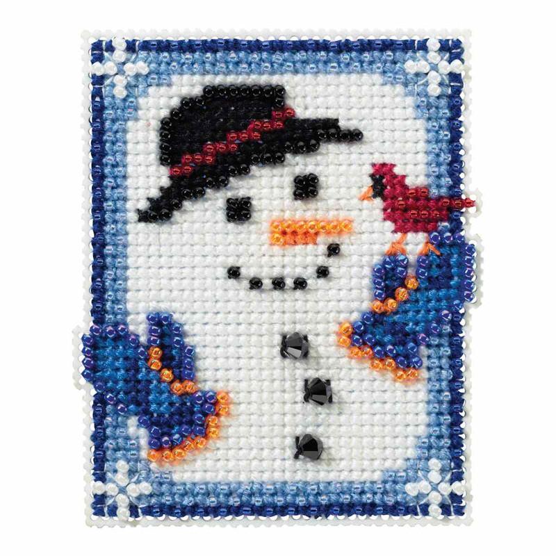 Indigo Angel Bead Christmas Ornament Kit Mill Hill 2005 Winter Holiday
