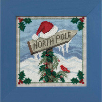 North Pole Cross Stitch Kit Mill Hill 2016 Buttons & Beads Winter MH141632