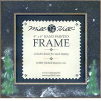 Matte Black Winter Night Mill Hill 6 x 6 Wooden Frame GBFRFA10