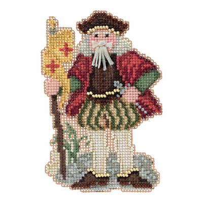 Genoa Santa Cross Stitch Kit Mill Hill 2016 Renaissance Santas MH201633