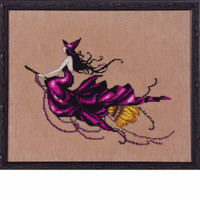 Eva Kit Cross Stitch Chart Fabric Beads Nora Corbett NC224 Mirabilia Designs