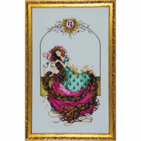 Rapunzel Kit Cross Stitch Chart Fabric Beads Braid Mirabilia Nora Corbett MD145