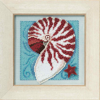 Nautilus Shell Cross Stitch Kit Mill Hill 2010 Buttons & Beads Spring MH140105