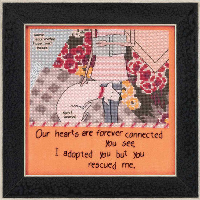 You Rescued Me Beaded Cross Stitch Kit Curly Girl 2016 Mill Hill CG301614