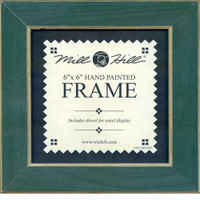 Matte Green Solid Color Gold Trim Mill Hill 6 x 6 Wooden Frame GBFRM3