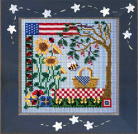 Summer Picnic Cross Stitch Kit Mill Hill 2005 Buttons & Beads Spring MHCB231