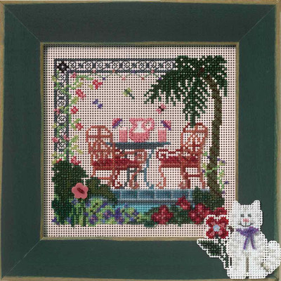 Tropical Hideaway Cross Stitch Kit Mill Hill 2007 Buttons & Beads Spring MH147103