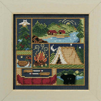 Camping Out Cross Stitch Kit Mill Hill 2008 Buttons & Beads Spring MH148103