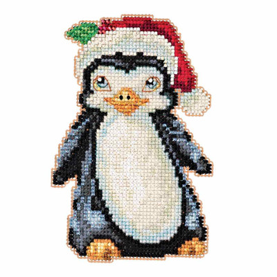 Penguin Beaded Counted Cross Stitch Kit Mill Hill 2016 Jim Shore JS201614