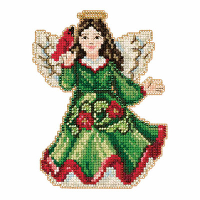 Angel with Cardinal Counted Cross Stitch Kit Mill Hill 2016 Jim Shore JS201615