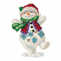 Snowman Dancing Counted Cross Stitch Kit Mill Hill 2016 Jim Shore JS201613