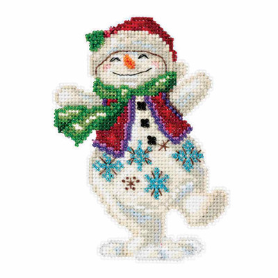 Snowman Dancing Counted Cross Stitch Kit Mill Hill 2016 Jim Shore JS201613