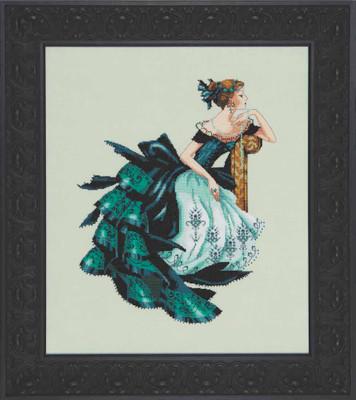 Portrait of Veronica Kit Cross Stitch Chart Fabric Beads Braid Mirabilia MD147L