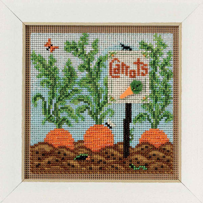 Carrot Garden Cross Stitch Kit Mill Hill 2017 Buttons & Beads Spring MH141711