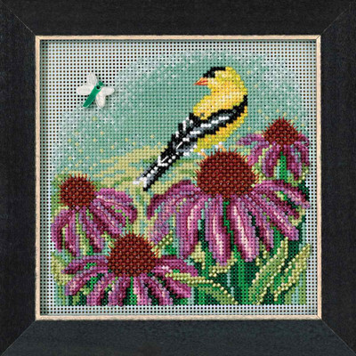 Goldfinch Cross Stitch Kit Mill Hill 2017 Buttons & Beads Spring MH141712