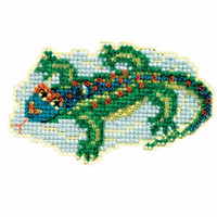 Lizard Bead Cross Stitch Kit Mill Hill 2017 Spring Bouquet MH181713