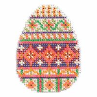 Trellis Egg Bead Cross Stitch Kit Mill Hill 2017 Spring Bouquet MH181715