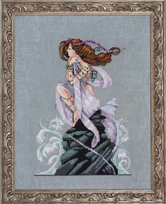 Andromeda Kit (Cross Stitch Chart, Fabric, Beads, Kreinik Braid) Nora Corbett Mirabilia Designs MD149