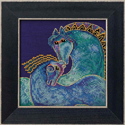 Mediterranean Mares Cross Stitch Kit (Aida) Mill Hill 2017 Laurel Burch Horses LB301721