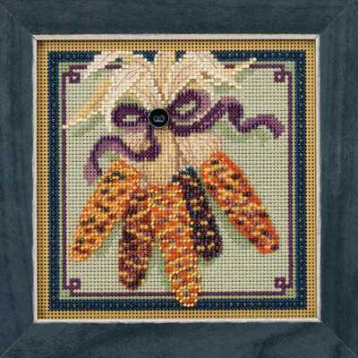 Harvest Corn Cross Stitch Kit Mill Hill 2017 Buttons & Beads Autumn MH141721