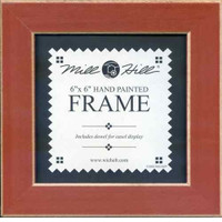 Rust Solid Color Hand Painted Mill Hill 6 x 6 Wooden Frame GBFRM13
