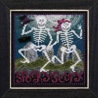 Spooky Scary Cross Stitch Kit Mill Hill 2017 Buttons & Beads Autumn MH141723