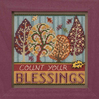 Blessings Cross Stitch Kit Mill Hill 2017 Buttons & Beads Autumn MH141725
