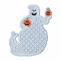 Ellis Ghost Beaded Halloween Cross Stitch Kit Mill Hill 2017 Ghost Trilogy MH191722