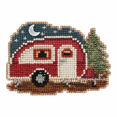 Happy Camper Bead Cross Stitch Kit Mill Hill 2017 Autumn Harvest MH181721
