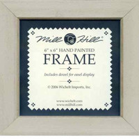 Taupe Solid Color Hand Painted Mill Hill 6 x 6 Wooden Frame GBFRM11