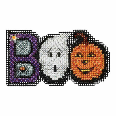 Boo Bead Cross Stitch Kit Mill Hill 2017 Autumn Harvest MH181722